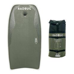 Prancha de bodyboard insuflável AIR 500 Caqui com mochila Não inclui bomba.