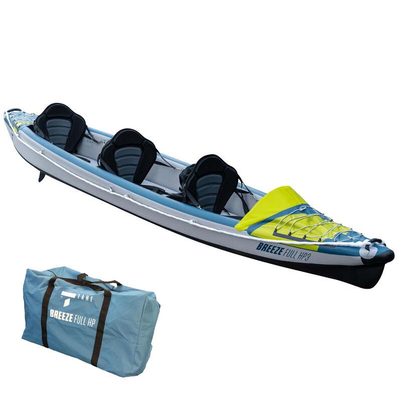 Canoa Kayak Hinchable Breeze Tahe Alta Presión 3 Plazas