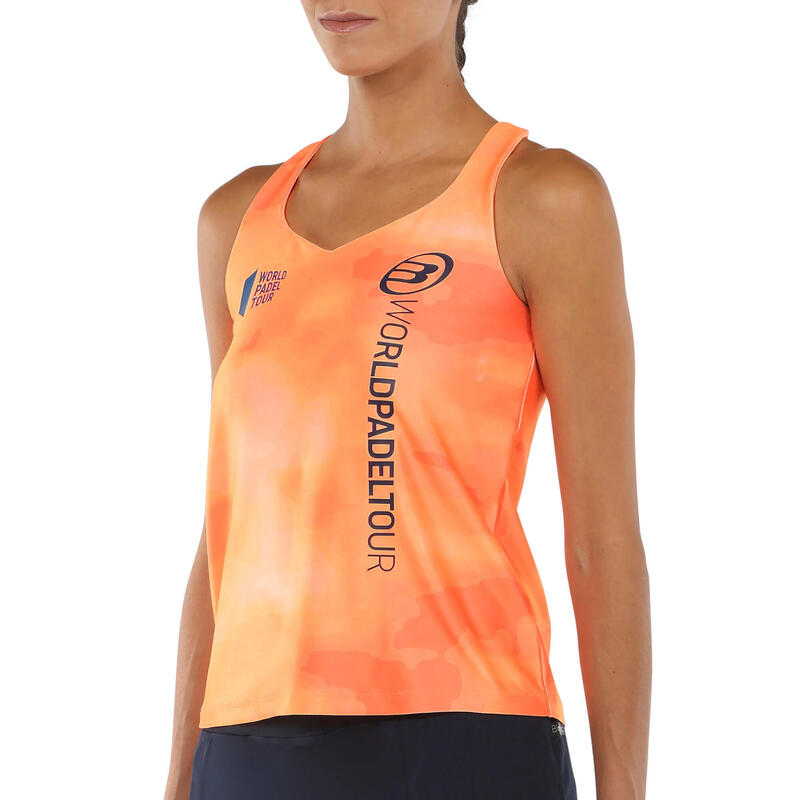 Camiseta de padel mujer Bullpadel Yari Naranja