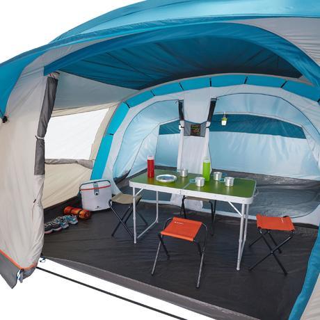 Tente de camping familiale arpenaz 5 2 5 personnes quechua for Tente 6 places 3 chambres