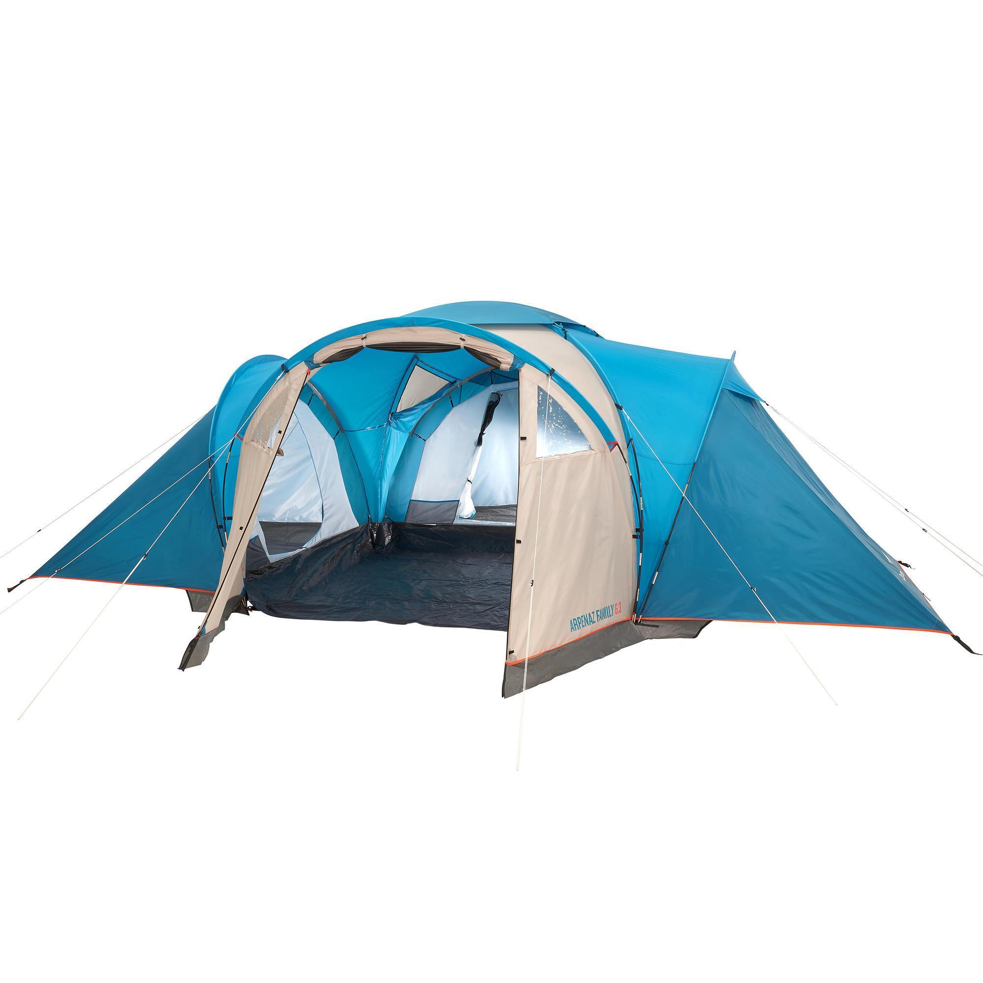 Arpenaz 6 3 Family Camping Tent 6 People Quechua