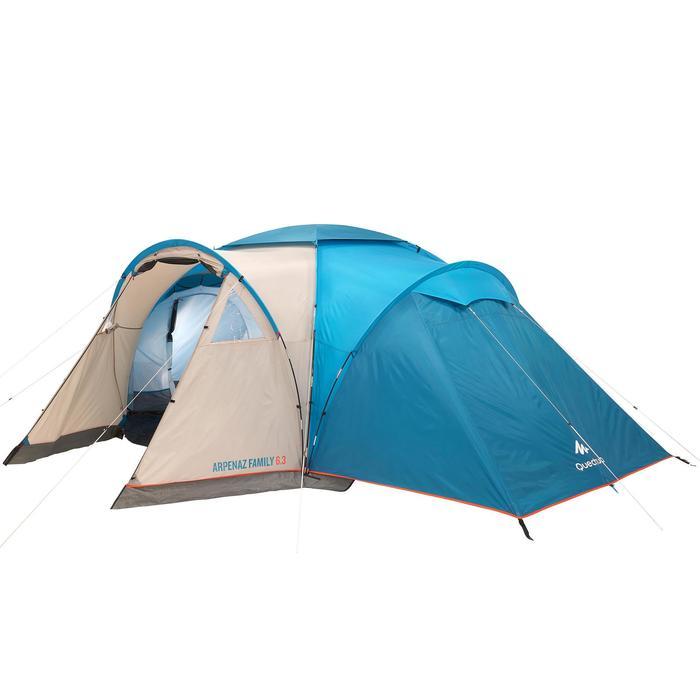Tente de camping à arceaux ARPENAZ 6.3 | 6 Personnes 3 Chambres