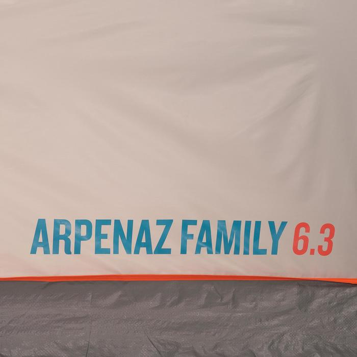 Tente à arceaux de camping - Arpenaz 6.3 - 6 Personnes - 3 Chambres