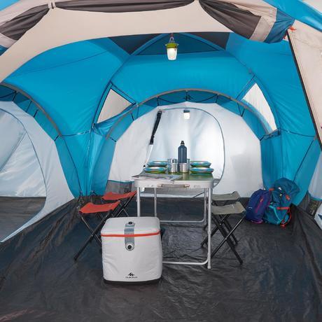 Tente de camping familiale arpenaz 6 3 6 personnes 3 for Tente 4 personnes 2 chambres