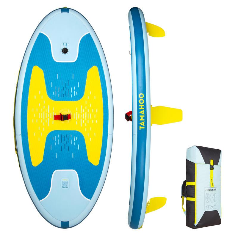 Opblaasbaar windsurfboard 100 blauw