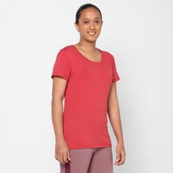 Women's Cotton Gym T-Shirt Regular-Fit 500 - Red