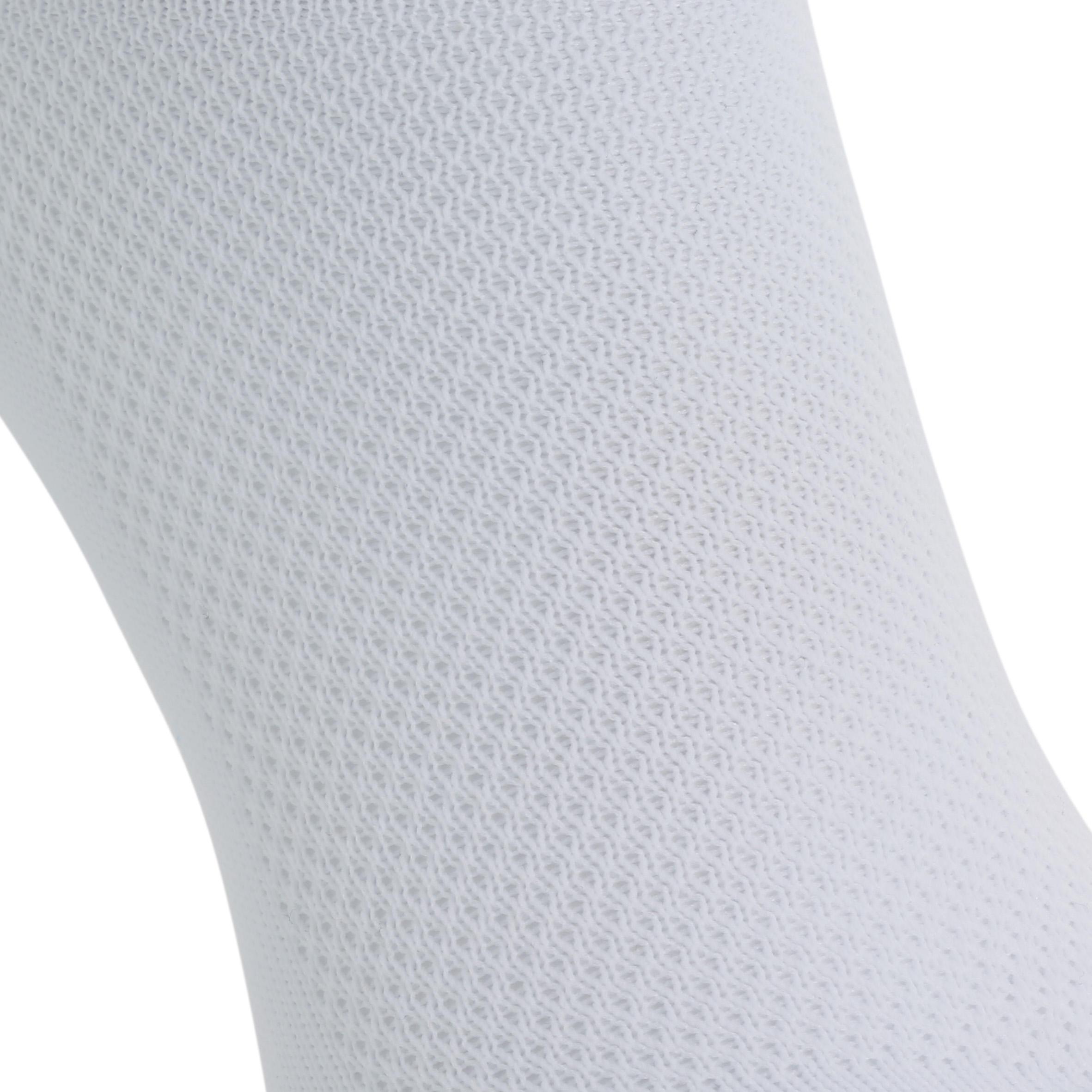 Chaussette de soccer adulte F100 blanche