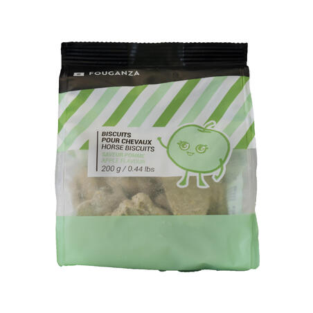Horse Riding Biscuits For Horse/Pony Fougacrunch 200g - Apple