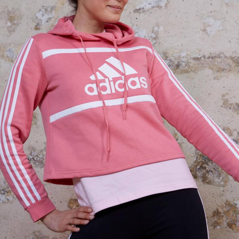 DÁMSKÉ KALHOTY, MIKINY, BUNDY Fitness - DÁMSKÁ SPORTOVNÍ MIKINA ADIDAS - Fitness oblečení a boty