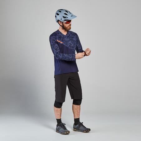 Maillot de vélo de montagne à manches longues - bleu