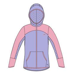 兒童拉鍊連帽運動衫 - 紫色