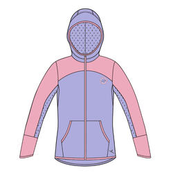 Kids' Zip-Up Hooded Sweatshirt - Purple