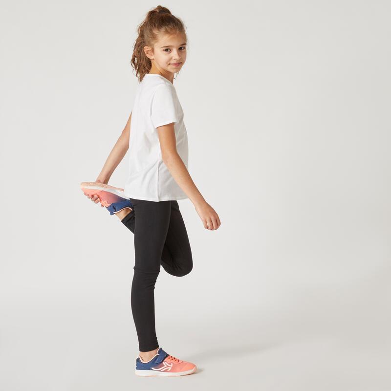 100 Short-Sleeved Gym T-Shirt - White - Girls'