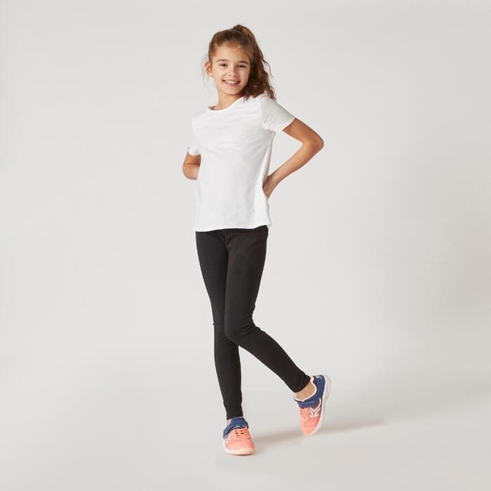T-shirt Básica de Ginástica Algodão Criança Branco