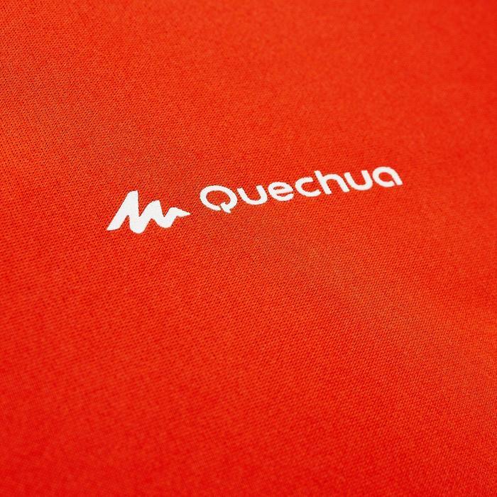 Heren T-shirt met korte mouwen voor trekking TechFRESH 50 oranje