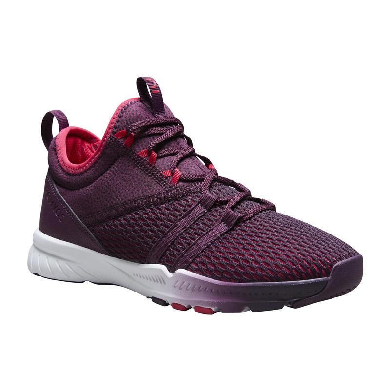 Zapatillas de fitness 140 mid mujer violeta