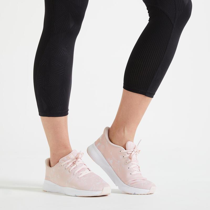 Zapatillas de fitness estampado mármol 120 mujer.