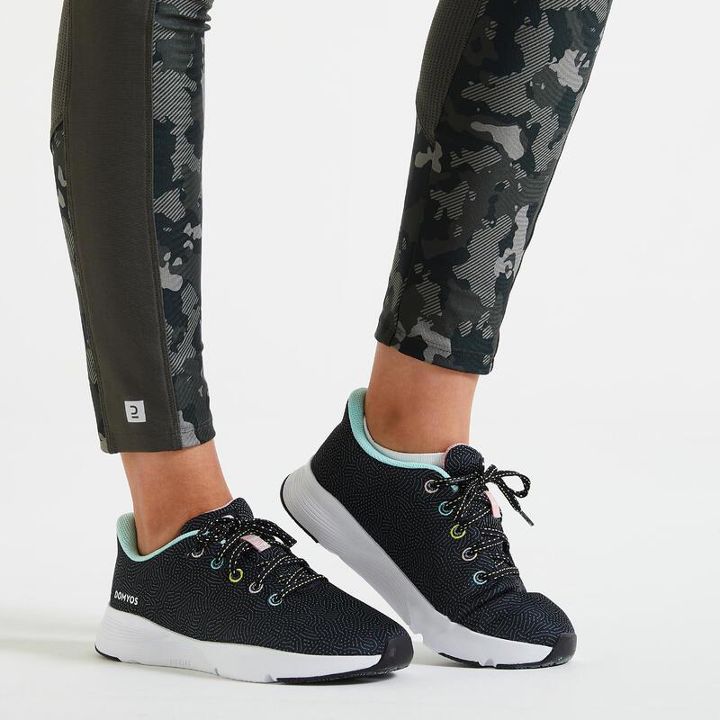 Zapatillas de fitness estampado pop art 120 mujer.