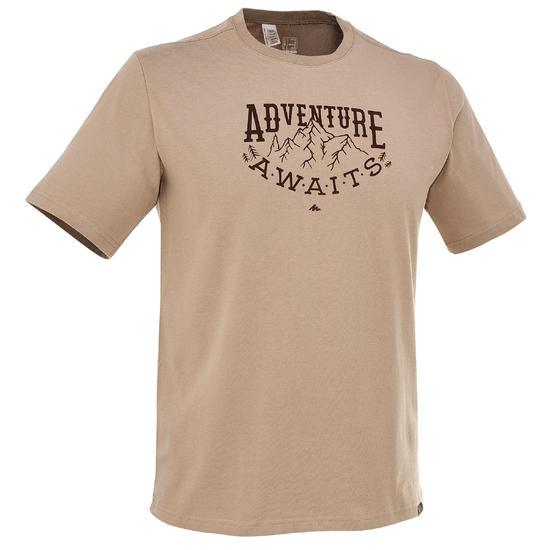 Wandel T-shirt met korte mouwen voor heren Techtil 100 gemêleerd - 203178