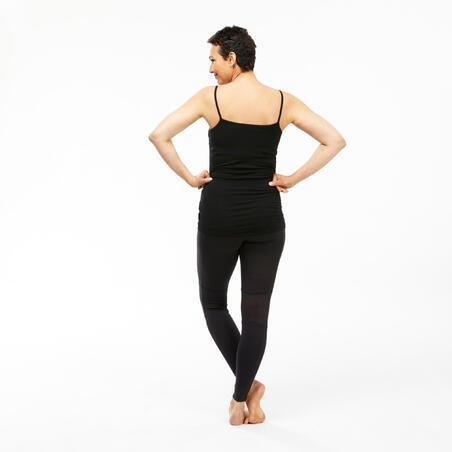 """Sieviešu kalnu trekinga merino vilnas bezpiedurkņu krekls """"Trek 500"""", melns"""