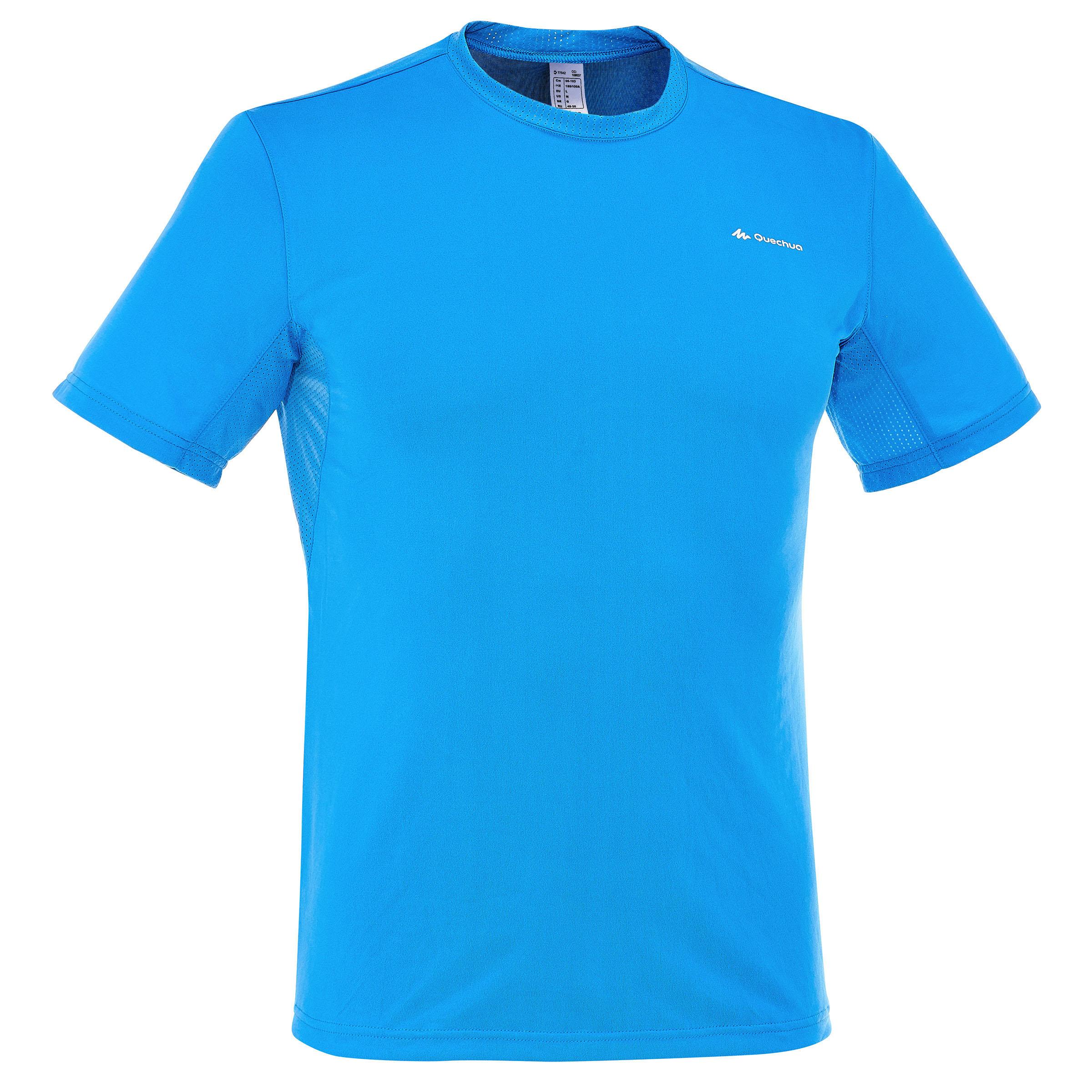 Camiseta de manga corta campamentoTechFRESH 50 caballero azul claro