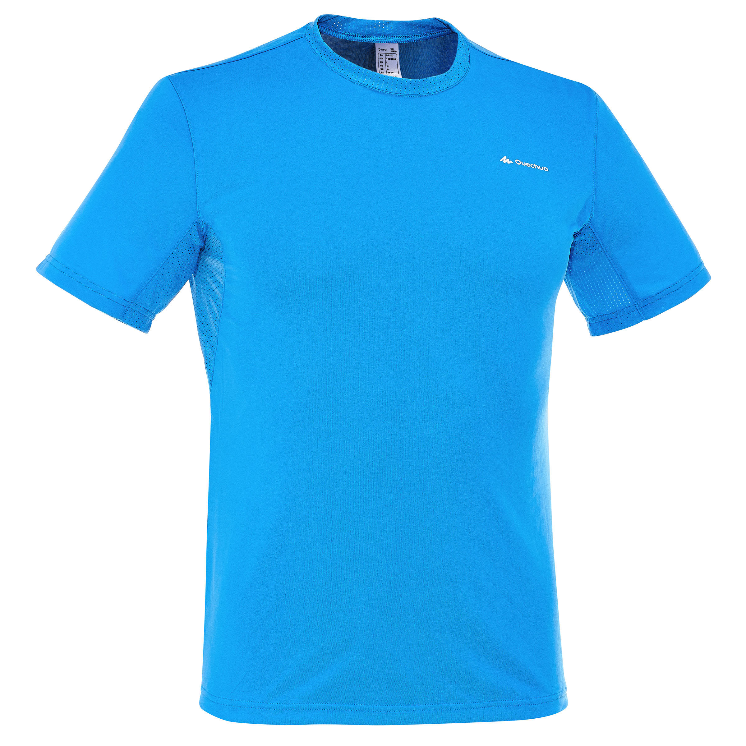 Tech Frech 50 Men's Short Sleeve Hiking T-shirt - Blue