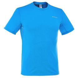 Heren T-shirt MH100 met korte mouwen voor wandelen