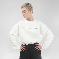 Camisola Crop Top de Danças Urbanas Mulher Branco