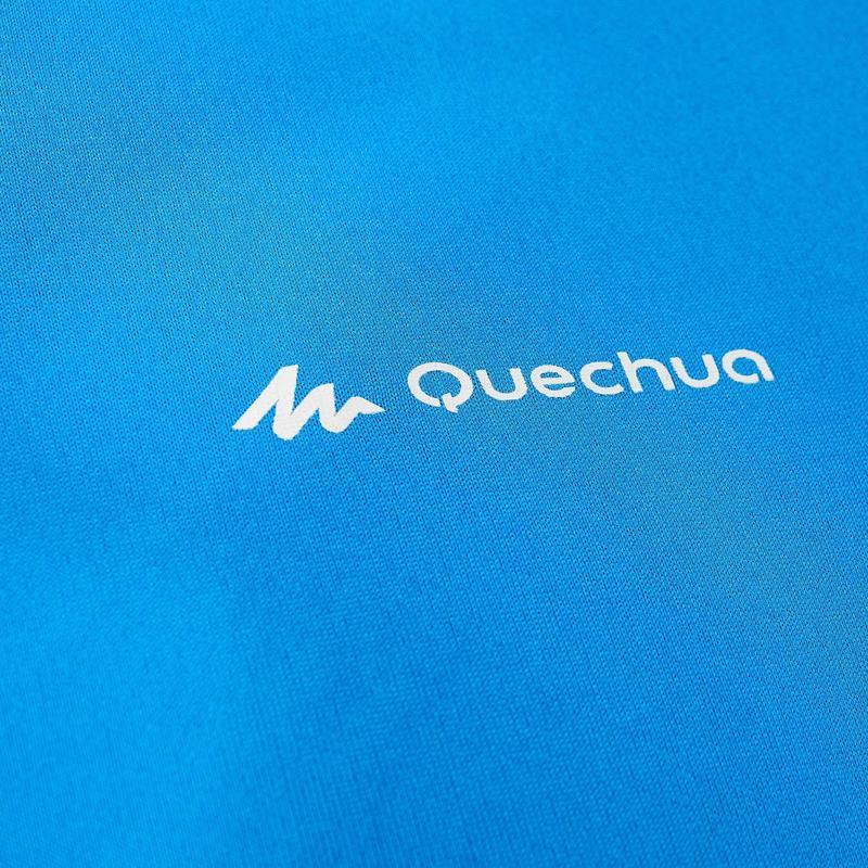 Polera MH100 manga corta Azul Hombre Montaña/Trekking Forclaz