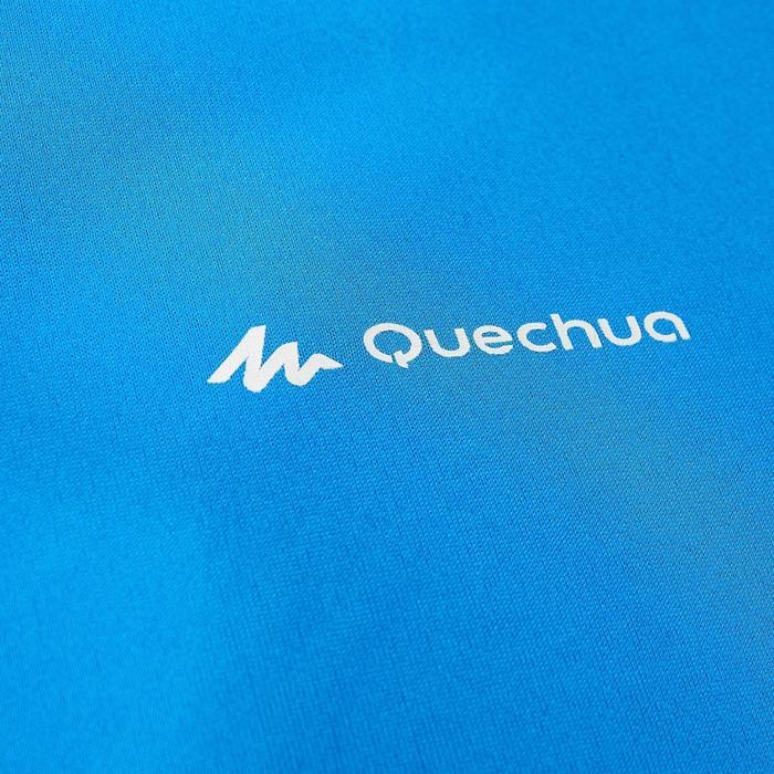 Camiseta Senderismo en la montaña MH100 manga corta hombre Azul