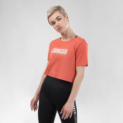 T-shirt Crop Top de Danças Urbanas Mulher Vermelho