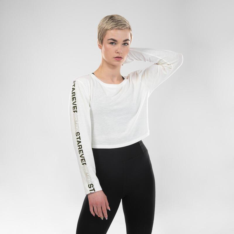 Women's Urban Dance Long-Sleeved T-Shirt - White