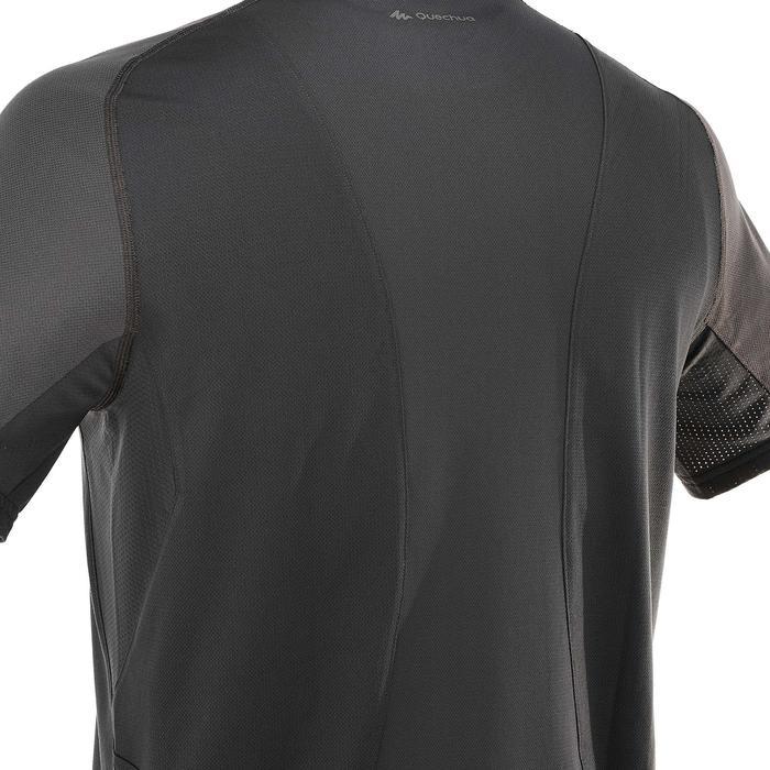Tee Shirt Manches Courtes Randonnée Tech Fresh 100 homme Gris foncé - 203227