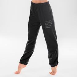 Pantalon danse moderne ajustable noir femme