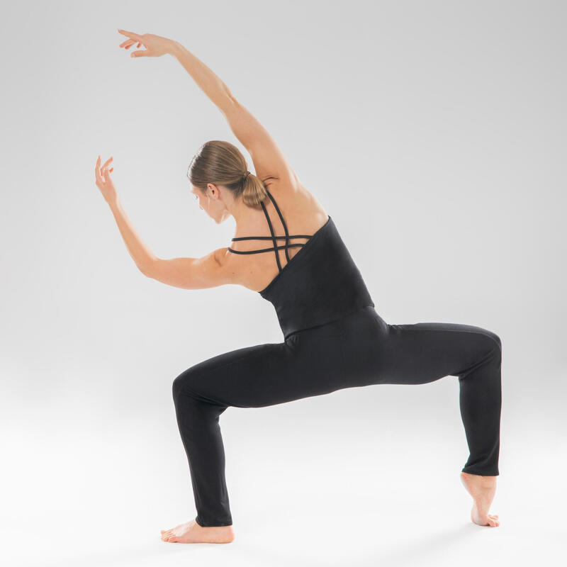 Women's Modern Dance Loose Jumpsuit - Black
