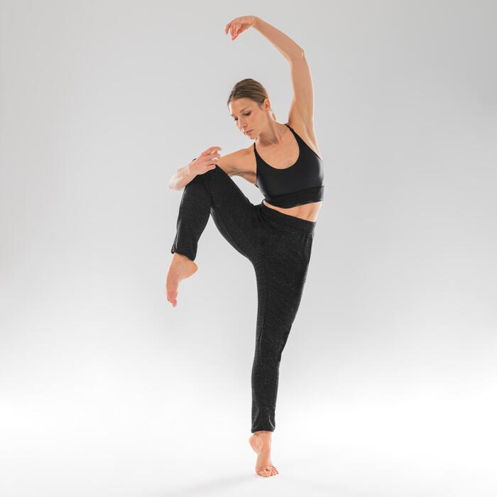 Tanzhose Modern Dance Karottenschnitt anpassbar Damen schwarz