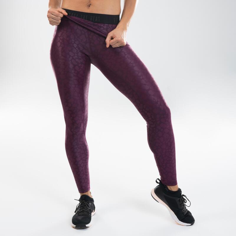 Women's Fitness Dance Leggings - Purple Print
