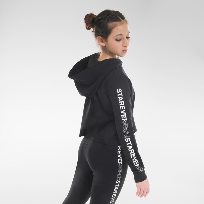 Sweat danse moderne crop top noir fille