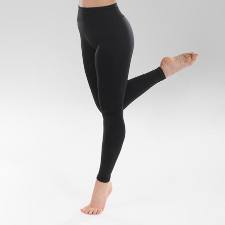 Girls' Seamless Modern Dance Leggings - Black