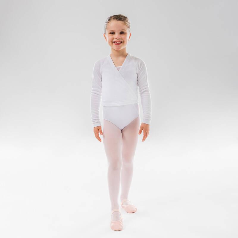 DÍVČÍ TRIKOTY, OBLEČENÍ NA BALET Balet - BALETNÍ ZAVINOVACÍ BLŮZA STAREVER - Balet