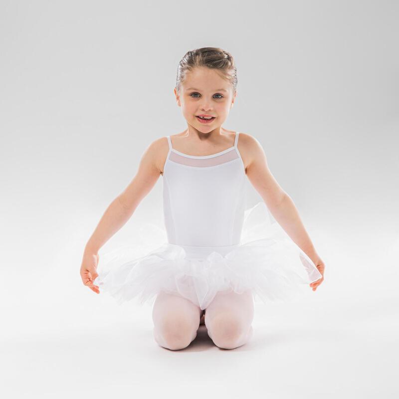 Tutulette bambina danza classica bianca