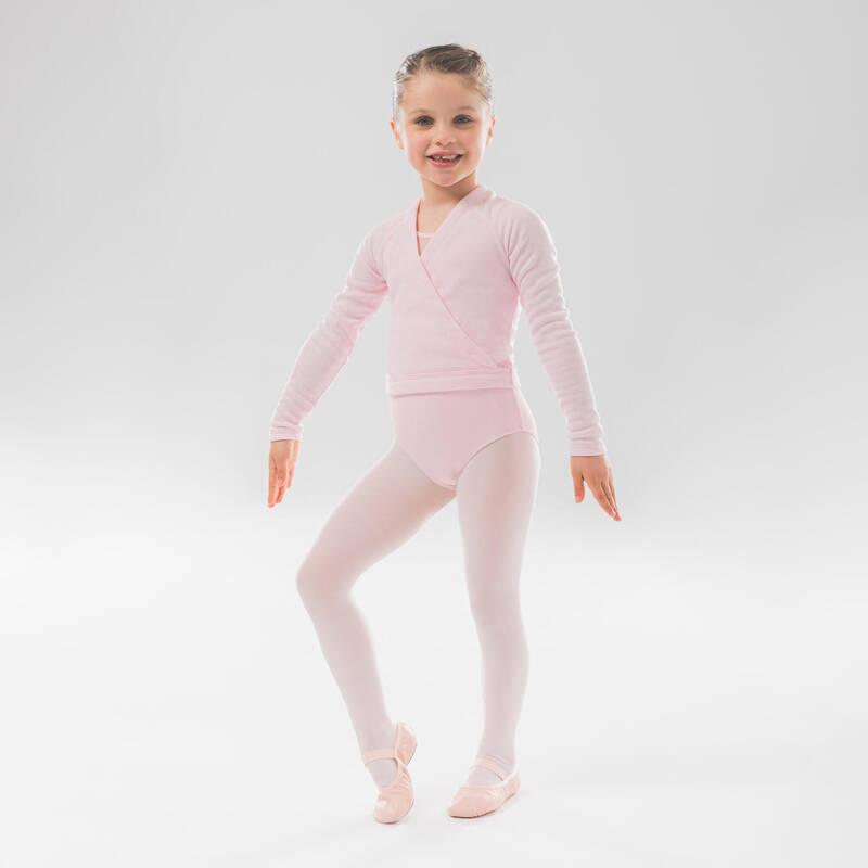 DÍVČÍ TRIKOTY, OBLEČENÍ NA BALET Balet - BALETNÍ ZAVINOVACÍ BLŮZA STAREVER - Baletní oblečení