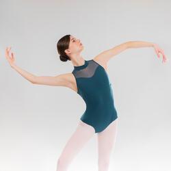 Maillot de Dança Clássica Gola Subida Mulher Azul