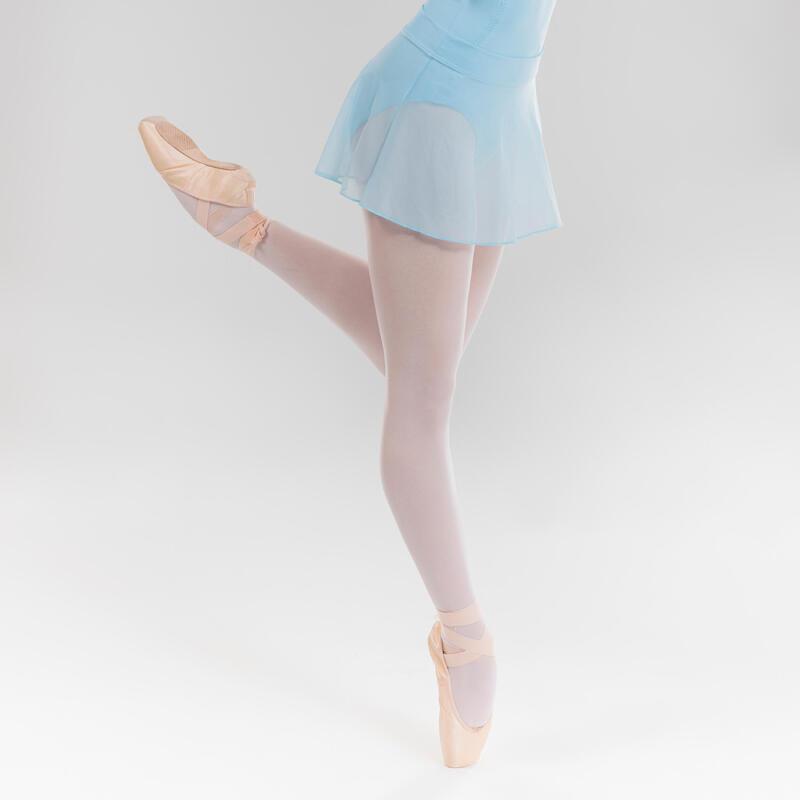 Jupette danse classique rose en voile bleu ciel fille