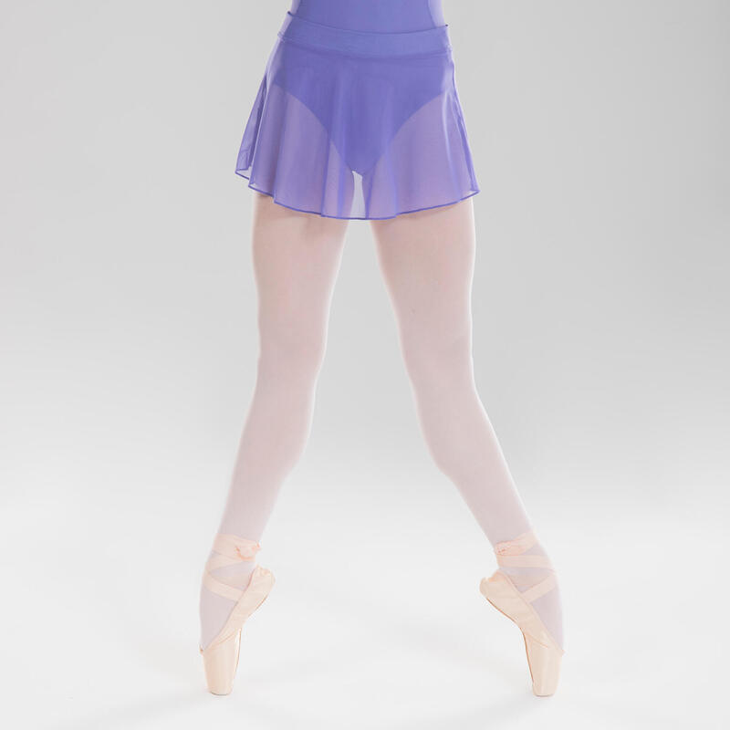 Jupette danse classique bleue en voile fille