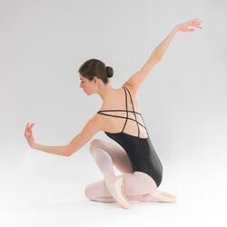 Tanzbody mit gekreuzten Trägern Ballett Damen schwarz