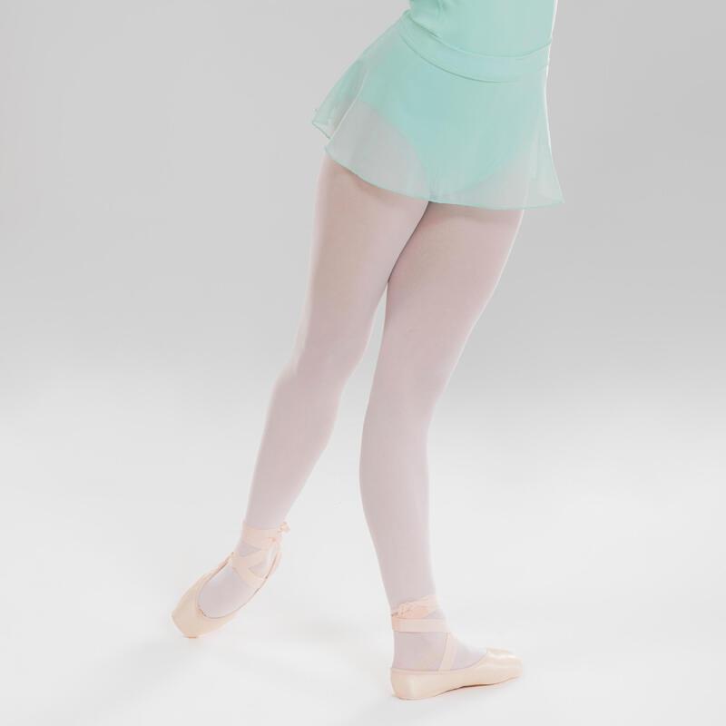 Jupette danse classique vert pâle en voile fille