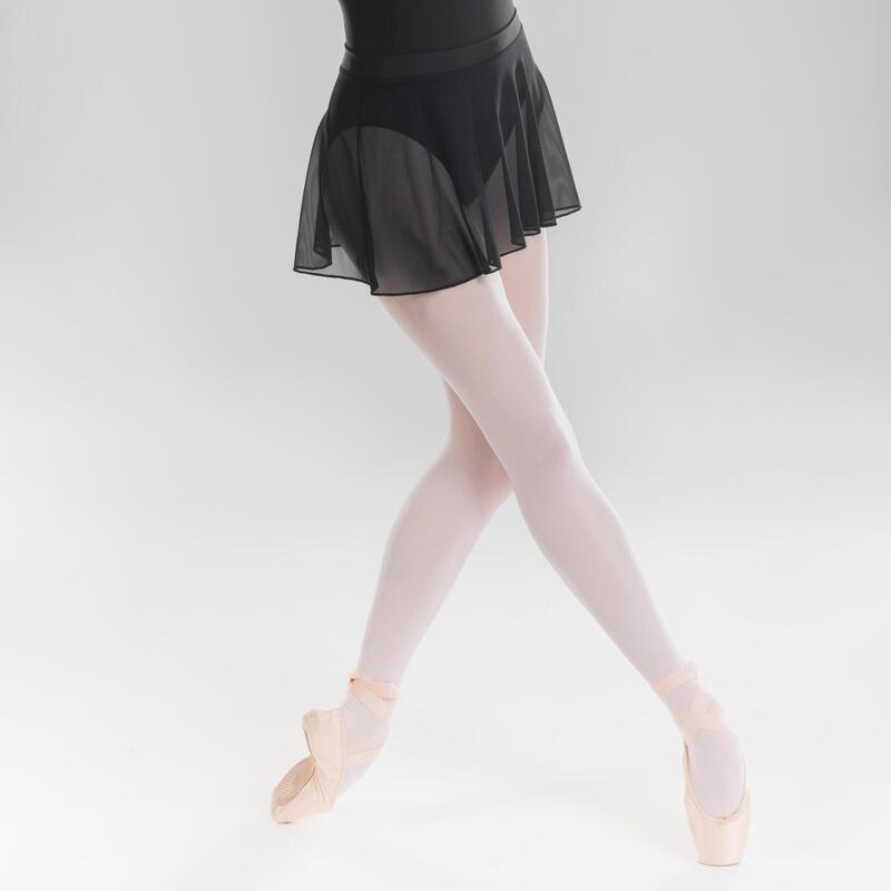 Jupette danse classique noire en voile fille