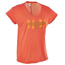 T-shirt korte mouwen trekking dames Arpenaz 100 - 203269