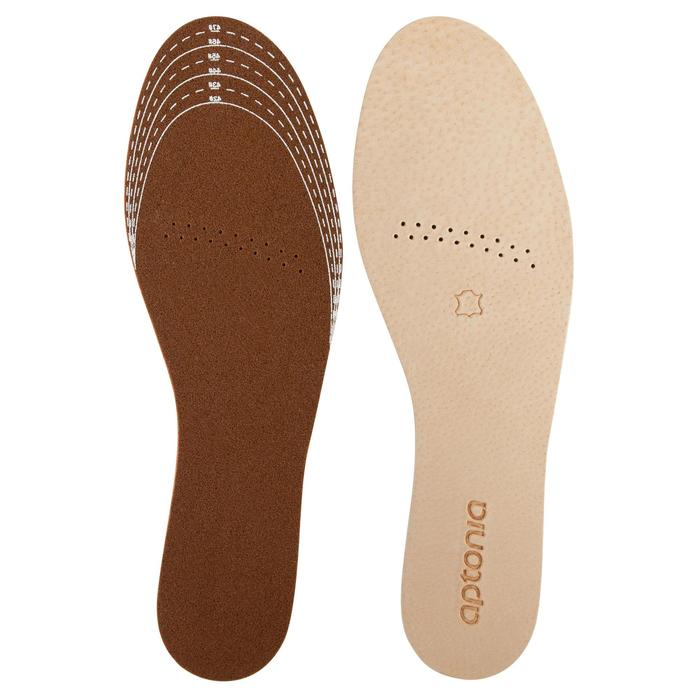 皮革鞋墊Walk 100-棕色